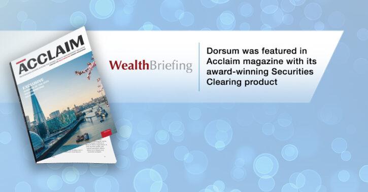 dorsum in the acclaim magazine