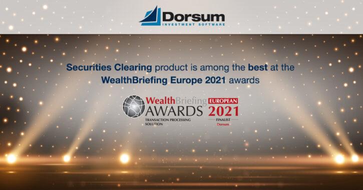 Dorsum WealthBriefing award finalist 2021